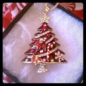 Christmas Tree Necklace Betsey Johnson New